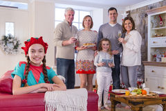 Family Time at Christmas Stock Image