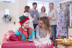 Family Time at Christmas Royalty Free Stock Images