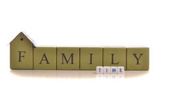Family Time. Concept - isolated on white background stock photography
