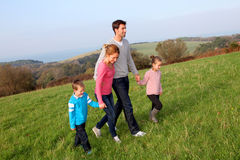 Family time in the countryside Royalty Free Stock Photo