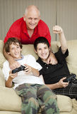 Family Time with Dad Stock Photography
