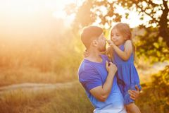 Family. Father and daughter. royalty free stock photo