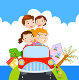 Family Time For Vacation Royalty Free Stock Photos
