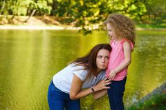 Family time. Mother and daughter royalty free stock photos