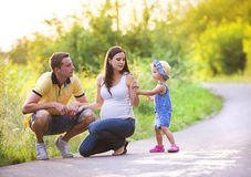 Family time in nature Stock Images