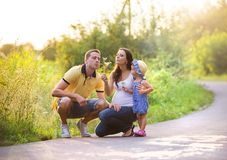 Family time in nature Royalty Free Stock Photo
