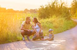 Family time in nature Royalty Free Stock Image