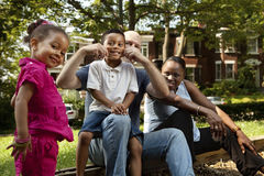 Family time at the park Royalty Free Stock Photos