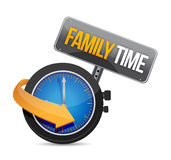 Family time watch illustration design Royalty Free Stock Photo