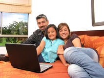 Family to meet in the room Royalty Free Stock Image