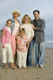 Family Together on Beach Royalty Free Stock Image