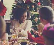 Family Together Christmas Celebration Concept stock image