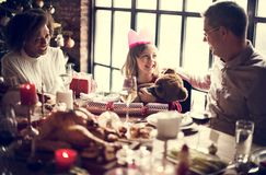 Family Together Christmas Celebration Concept Royalty Free Stock Image