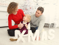 Family together at christmas indoor Stock Photo
