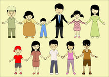 Family together forever. Its my big happy family Stock Photography