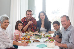 Family together having meal royalty free stock image