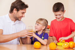 Family is together with his kids Royalty Free Stock Photo