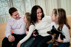 Family together at home Royalty Free Stock Images