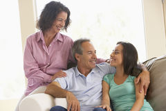 Family Together At Home Royalty Free Stock Photo