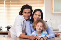 Family together in the kitchen Stock Photography