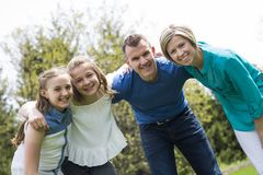 Family together outside Royalty Free Stock Photo