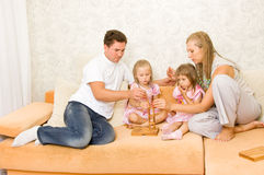 Family together playing Royalty Free Stock Images
