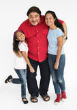 Family Together Studio Portrait Concept Royalty Free Stock Images