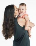 Family Together Studio Portrait Concept Stock Images