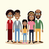 Family togetherness happy image. Illustration eps 10 Stock Images