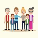 Family togetherness happy image. Illustration eps 10 Stock Photo