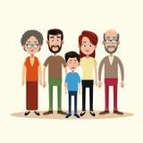 Family togetherness happy image. Illustration eps 10 Royalty Free Stock Photo