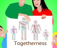 Family Togetherness Indicates Blood Relation And Children. Family Togetherness Representing Close Knit And Closeness Royalty Free Stock Photos