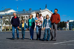 family at town Royalty Free Stock Image