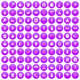 100 family tradition icons set purple. 100 family tradition icons set in purple circle isolated vector illustration vector illustration