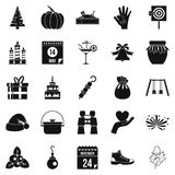 Family tradition icons set, simple style. Family tradition icons set. Simple set of 25 family tradition vector icons for web isolated on white background Royalty Free Stock Images