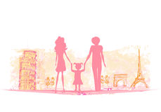 Family Travel Background Royalty Free Stock Photography