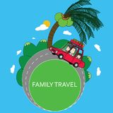 Family travel by car summer vacations. Royalty Free Stock Photography