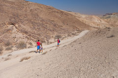Family travel in the desert Stock Photography
