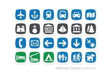 Family Travel & Heritage Icon Collection2 Stock Photo