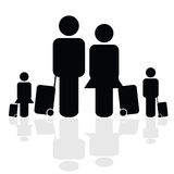 Family travel icon vector Royalty Free Stock Image