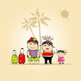 Family Travel, Summer Holiday Royalty Free Stock Images