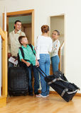 Family travelers   going on holiday Stock Photo
