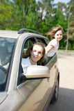 Family traveling by car Royalty Free Stock Image