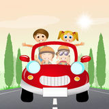 Family traveling on car Royalty Free Stock Photography