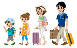 Family traveller, Isolated Royalty Free Stock Photo