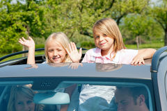 Family travelling by car Royalty Free Stock Photos