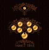 Family tree. Vector family tree design with frames royalty free illustration