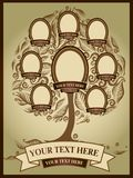 Family Tree background. Vector illustration of family tree. Genealogy template royalty free illustration