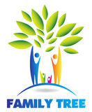 Family tree concept. Abstract concept of a family tree with kids and parents royalty free illustration