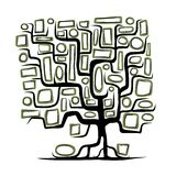 Family tree concept with empty frames vector illustration